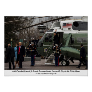 45th President Donald J. Trump Replaces Obama Poster