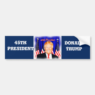 45th President-Donald Trump _ Bumper Sticker