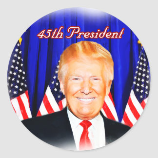 45th President-Donald Trump _ Classic Round Sticker
