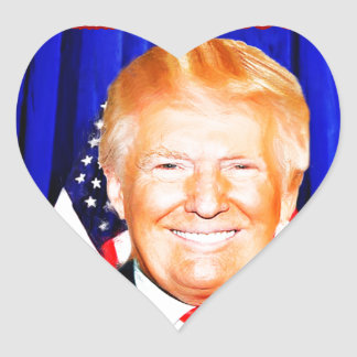 45th President-Donald Trump _ Heart Sticker