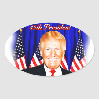 45th President-Donald Trump _ Oval Sticker