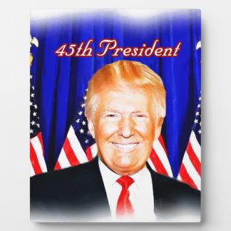 45th President-Donald Trump _ Plaque