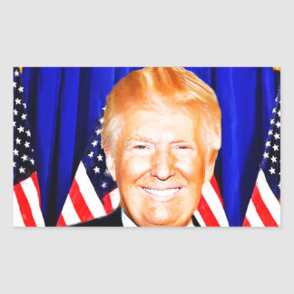 45th President-Donald Trump _ Rectangular Sticker
