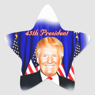 45th President-Donald Trump _ Star Sticker