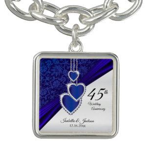 544aca065 45th Sapphire Wedding Anniversary Keepsake Charm Bracelet