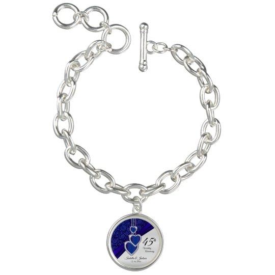 4130df7fe 45th Sapphire Wedding Anniversary Keepsake Charm Bracelet | Zazzle.com