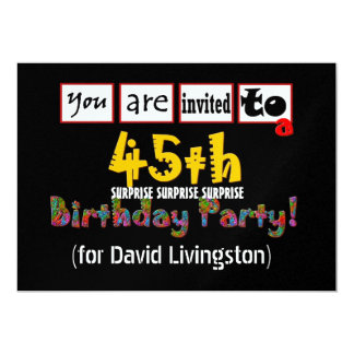 45th SURPRISE Birthday Party Invitation Template