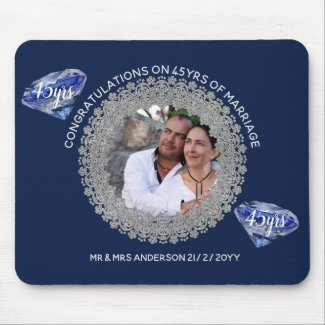 45th Wedding Anniversary - ADD PHOTO Sapphire Blue