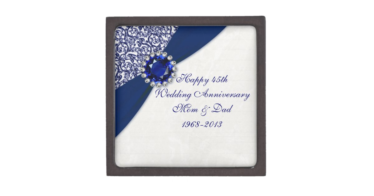 Wedding Anniversary Gift Box : 45th Wedding Anniversary Gift Box Zazzle