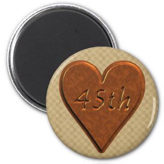45th Wedding Anniversary Gifts 2 Inch Round Magnet