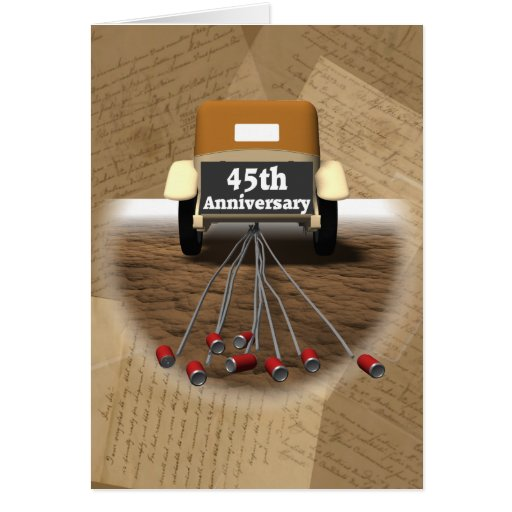 Wedding Gifts For 45th Anniversary : 45th Wedding Anniversary Gifts Card Zazzle
