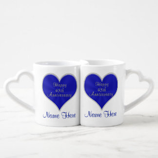 Wedding Gifts For Parents Of The Couple : 45th Wedding Anniversary Gifts for Parents, Couple Coffee Mug Set