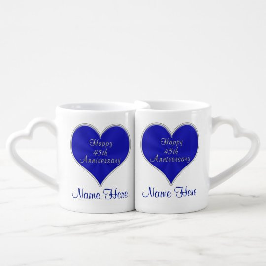 45th Wedding Anniversary Gifts For Parents Couple Coffee Mug Set