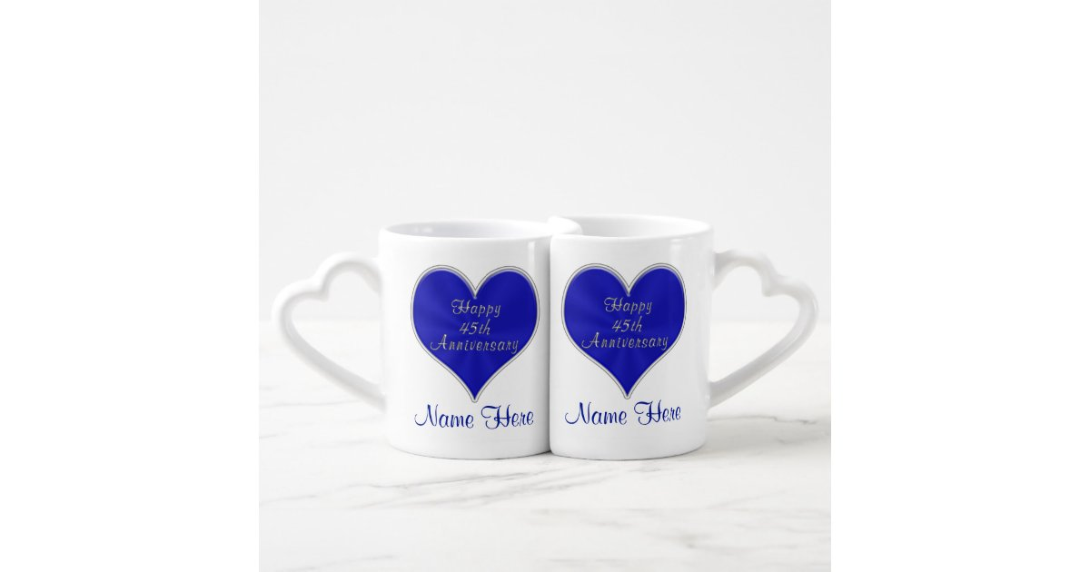 45th wedding anniversary gifts for parents couple coffee mug set