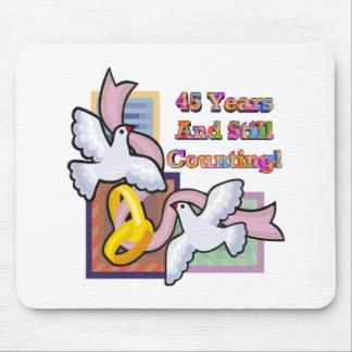 45th wedding anniversary gw mouse pad
