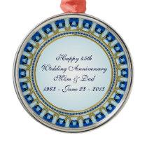 45th Wedding Anniversary Ornament