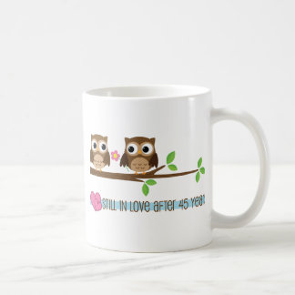 45th Wedding Anniversary Owls Coffee Mug