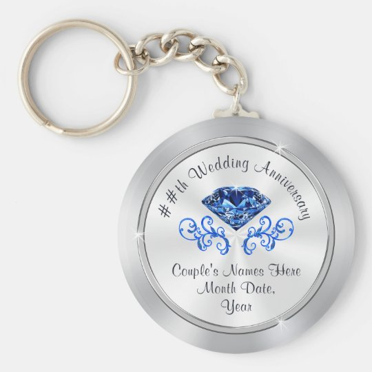 45th Wedding Anniversary Party Ideas For Parents Keychain