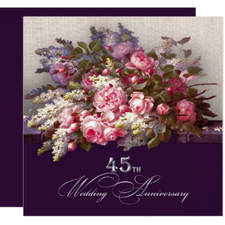 45th Wedding Anniversary Party Invitations