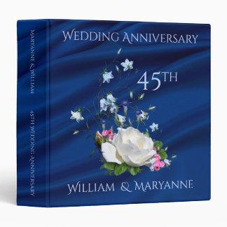 45th Wedding Anniversary Roses Custom Memories Binder