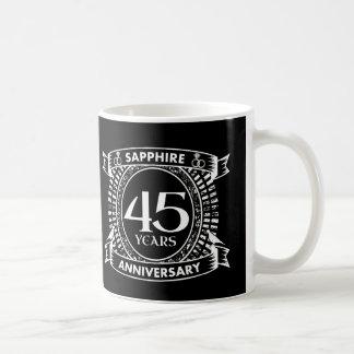 45th wedding anniversary sapphire crest coffee mug