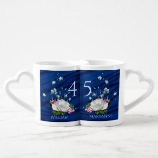 45th Wedding Anniversary Sapphire Custom Coffee Mug Set