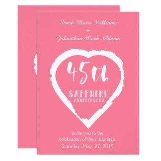 45th wedding anniversary traditional sapphire card