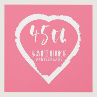 45th wedding anniversary traditional sapphire panel wall art