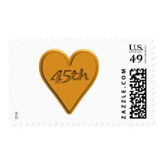 45thanniversary4t timbre postal
