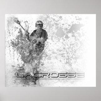 45x36 custom Vintage Lacrosse B/W Splatter Poster