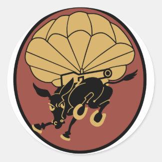 460 Field Artillery Classic Round Sticker