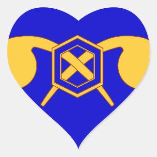 460o Brigada química Pegatina En Forma De Corazón