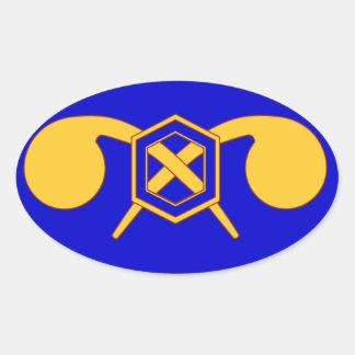 460o Brigada química Pegatina Ovalada