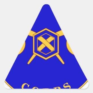 460o Brigada química Pegatina Triangular