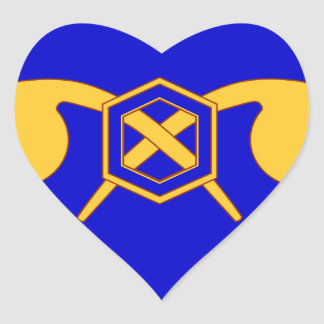 460th Chemical Brigade Heart Sticker