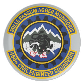 460th Civil Engineer Squadron Melamine Plate