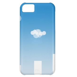 461 BLUE WHITE CITY CLOUDS VECTOR WALLPAPER BACKGR iPhone 5C CASES