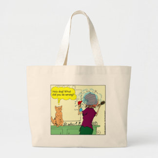 461 cat what did you do wrong cartoon tote bag