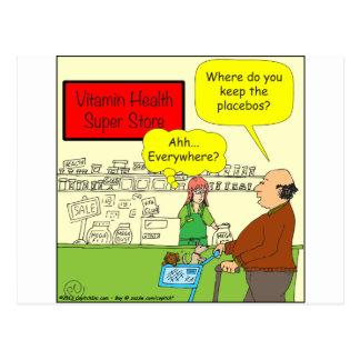 462 Where do you keep the placebos Color Cartoon Postcard