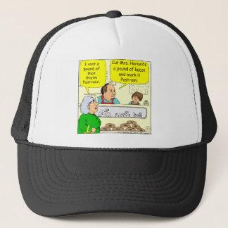 463 kosher bacon Goyem pastrami Cartoon Trucker Hat