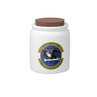 463rd Aircraft Maintenance Squadron Candy Jar