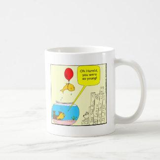 464 Suicidal Fish Cartoon Coffee Mug