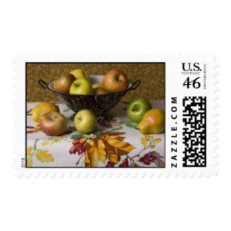 4654 Fruit in Colander Still Life Stamp