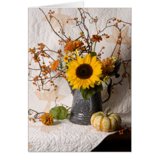 4663 Autumn Floral Greeting Card