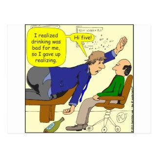 467 gave up realizing high five cartoon postcard