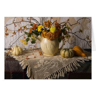 4697 Autumn Still Life Quilts Birthday Card