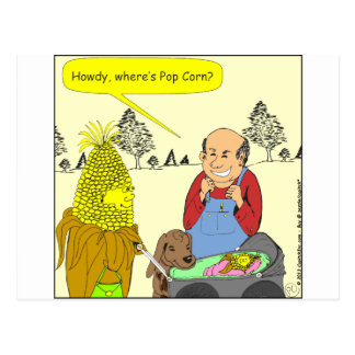 469 where is pop corn cartoon postcard