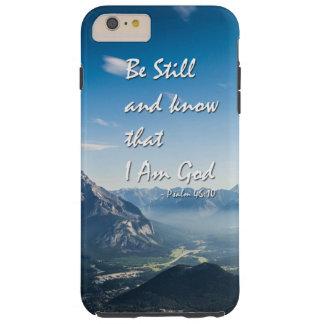 46:10 de los salmos del verso de la biblia funda resistente iPhone 6 plus