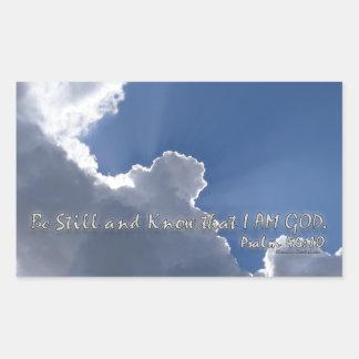 46:10 del salmo rectangular pegatinas