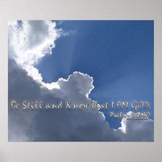 46:10 del salmo póster